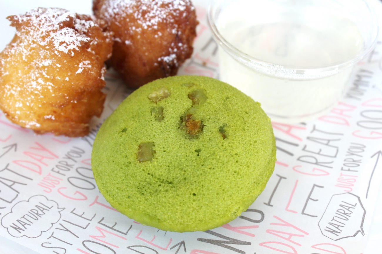 小松菜の蒸しケーキ