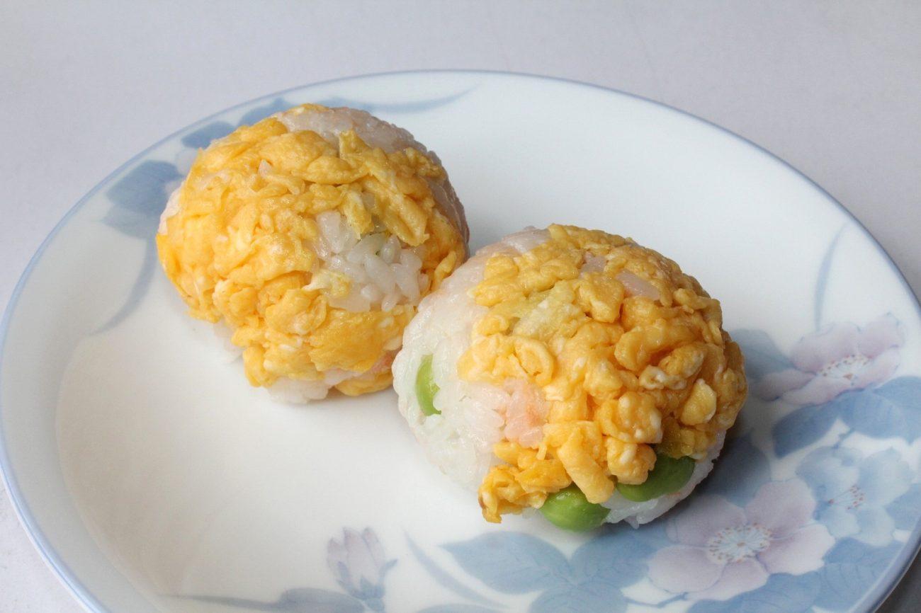 てまり寿司(鮭&枝豆)