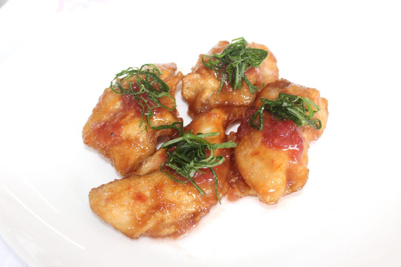 鶏むね肉の梅照り焼き